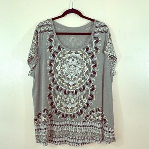 Lucky brand short sleeve gray T-shirt size 2X!